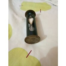 Vintage brass sandtimer with leather cover with white sand maritime calender