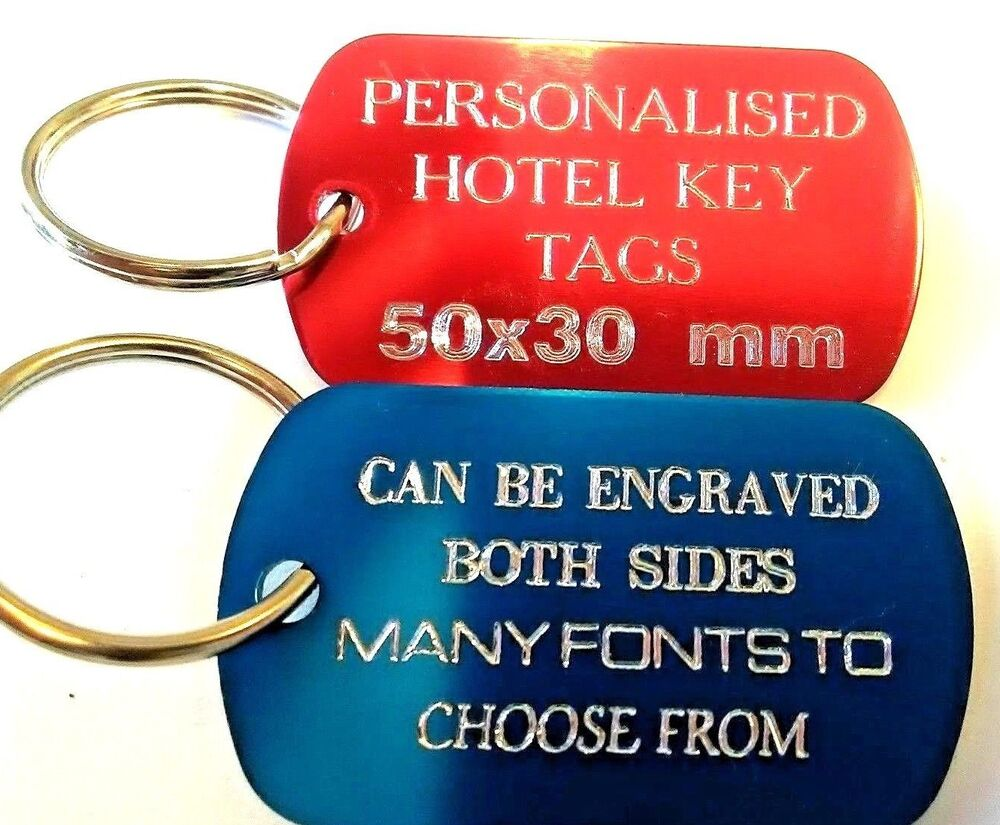 7ffd6b48d52 36x Personalised Engraved key tags/I.D.Tag keyrings,Estate Agents Landlords  | eBay
