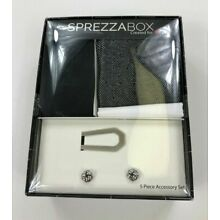 Sprezzabox Mens Black Modern Box 5 Piece Assorted Accessory Boxed Set OS