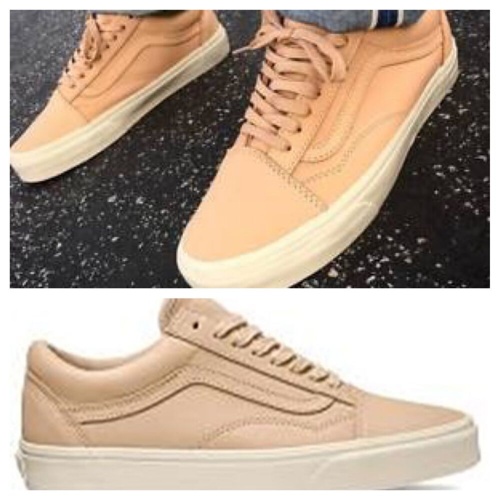 5a84c846423 Details about NEW Vans Old Skool DX Veggie Leather Tan Skate Shoes Sneakers  Men s Size 11.5