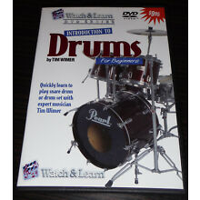 Watch & Learn Drums DVD Beginners Instructional Introduction to Drums Lessons