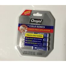 Orajel Touch-Free Cold Sore Treatment, with Applicator, 0.08oz,4 Vials BRAND NEW
