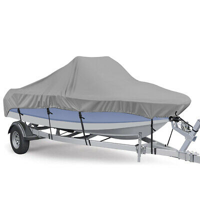 14-16FT Waterproof Heavy Duty Trailerable Fishing Ski Boat Cover V-Hull Beam 90
