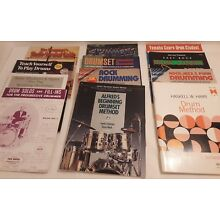 Lot of (12) instructional drum books 70s 80s 90s mel bay, alfred, percussion,