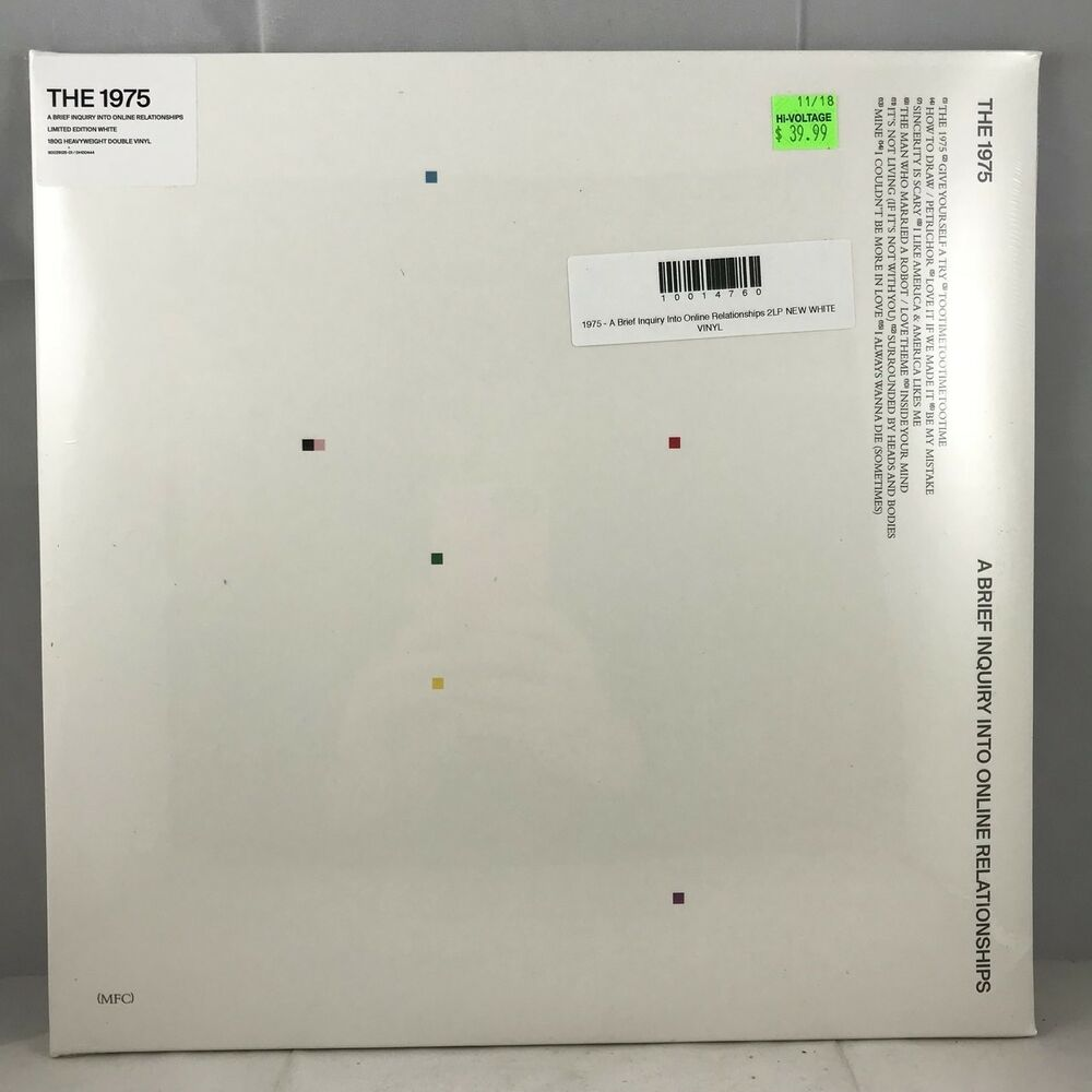 1975 A Brief Inquiry Into Online Relationships 2lp New White Vinyl