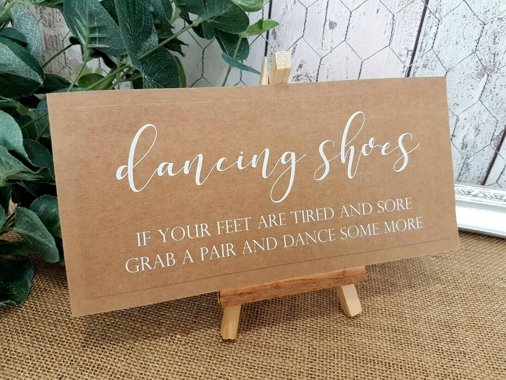 b67cae68d83d Dancing Shoes Slippers wedding Sign White Print chalkboard style  calligraphy