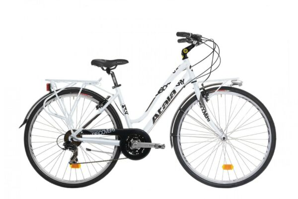 744d4cde3d4d58 BICI BICICLETTA TREKKING IBRIDA ATALA DISCOVERY S 18V LADY WHITE