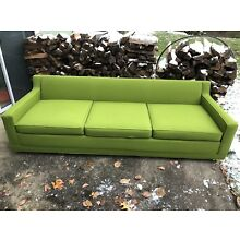 Pristine Lime Green Mid Century Modern Vintage Sofa; Dunbar, Edward Wormley Era
