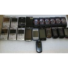 Lot of 21 - Mixed Cell Phones Broken AS IS for Parts/Scrap/Gold Recovery