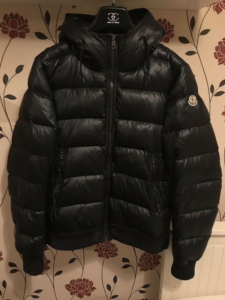 "Details about Moncler ""Marque"" Size 4 Mens Jacket In Navy, (£950 RRP) 3993a48dd00"