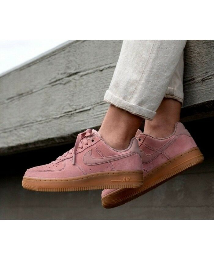 dface94d1a63 Details about NIKE AIR FORCE 1  07 LV8 SUEDE MEN S CASUAL SHOES PARTICLE  PINK AA1117 600