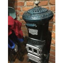 ANTIQUE PEERLESS WH LANDERS &CO SYRACUSE NY CAST IRON POT BELLY WOOD COAL STOVE