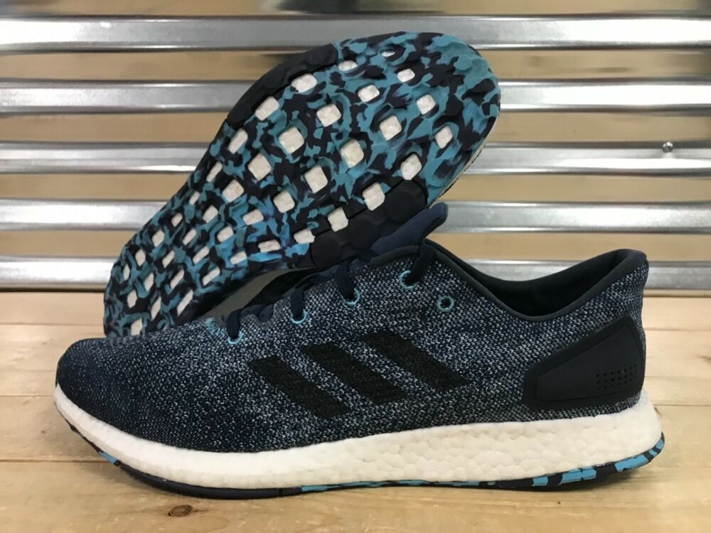 9165aa8c1b7 Details about Adidas PureBoost DPR Running Shoes Blue Black White SZ 14 (  CG2994 )