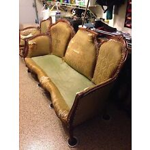 ANTIQUE ITALIAN ROCOCO COUCH AND CHAIR FRAMES