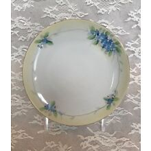 Antique Nippon Hand Painted Forget-Me-Not Plate, 6 1/2
