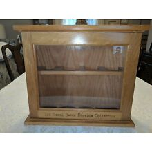 Vintage Wood and Glass Counter Display Case Cabinet....Small Batch Bourbon