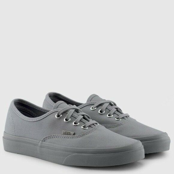 Details about Vans Authentic Canvas (Primary Mono) Frost Grey eca0c3fa5e