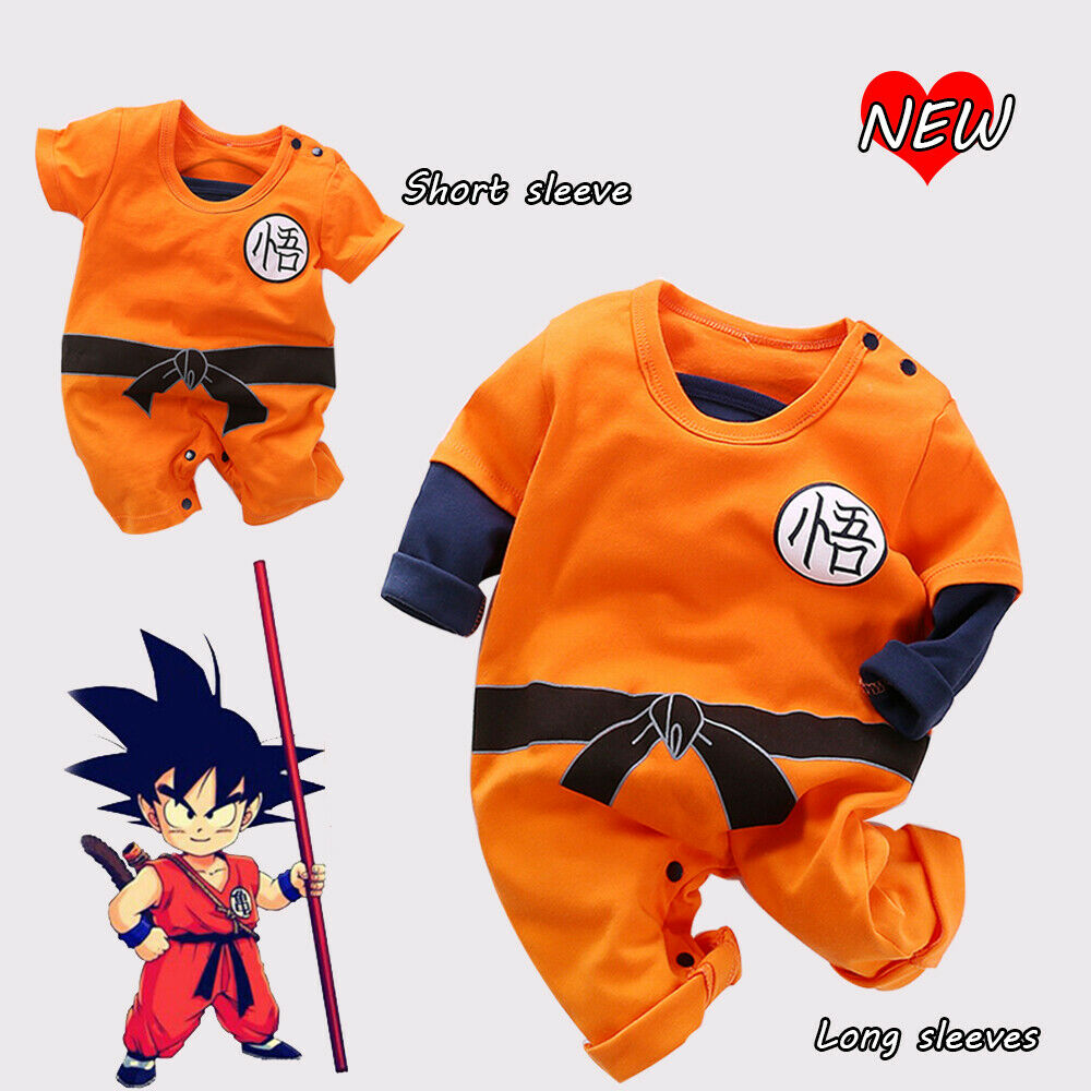 54011f4540fc Details about Baby Boys Dragon Ball Z Romper Newborn Goku Costume Jumpsuit  Outfit Playsuit Set