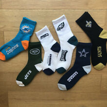 Rugby Team Sports Adult Thick Socks NFL New York Jets Seattle Seahawks Football