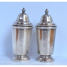 Antique English Sterling Silver Salt / Pepper Shakers, wonderful condition