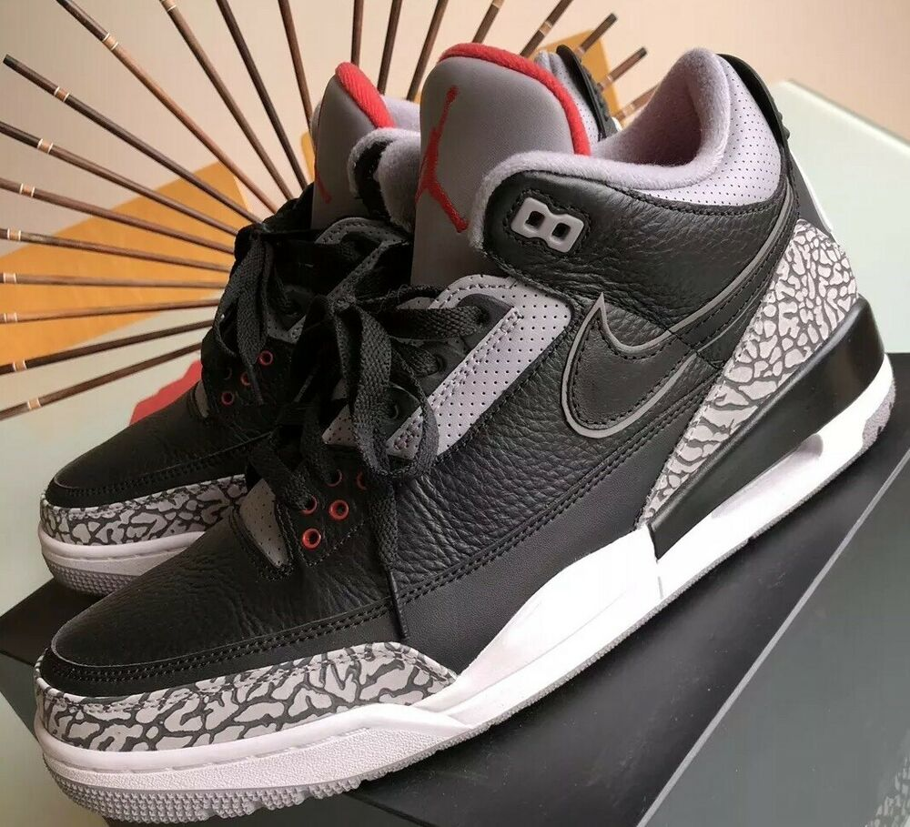check out be8e6 59984 Details about Nike Air Jordan III 3 Tinker NRG Bespoke Industries 1 Of 1  Black Cement