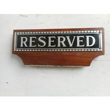Vintage Funeral Home Pew Reserved seating signs