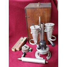 c.1929-TAG TWIN EBULLIOMETER WINE LIQUID BOILING POINT METER w/DOVETAILED CASE