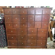 Nice Antique 30 Drawer Apothecary Cabinet