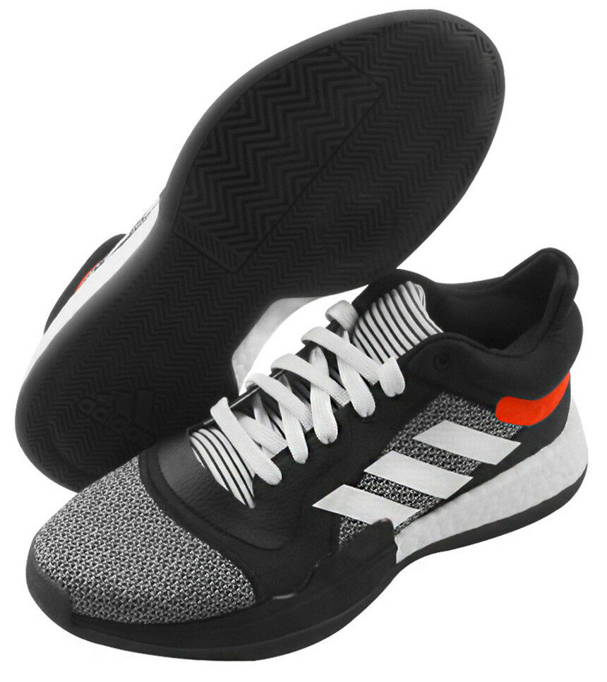 de963be953895 Details about adidas Marquee Boost Men s Basketball Shoes NBA Shoes Casual  Black Lowtop D96931