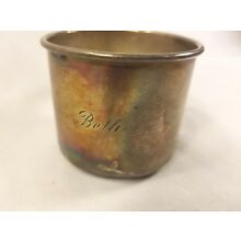 Vintage Sterling Silver Baby Cup Name Beth Engraved