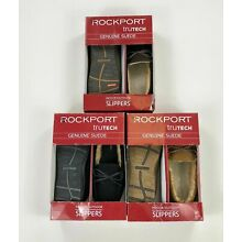 Rockport Mens Moccasin Slippers Trutech Genuine Suede Variety Sizes Colors