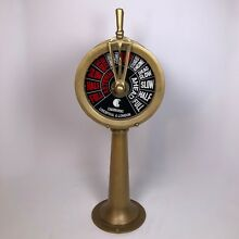 Repurposed Vintage CHADBURNS Brass Telegraph & Clock 20