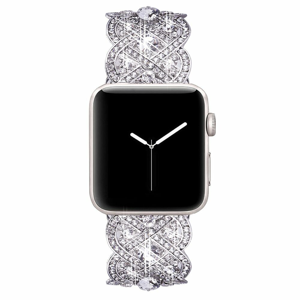 For Apple Watch 4,3,2,1 Rhinestone Elastic Band Stretch