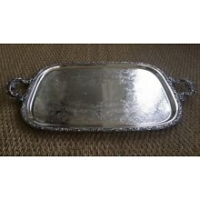 VTG EGW&S ( E.G. Webster & Sons) 30's Large Silverplate Waiters Handled Tray