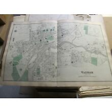 1875 WALTHAM, MA., MAP, MIDDLESEX COUNTY, A NICE CLEAN VINTAGE MAP