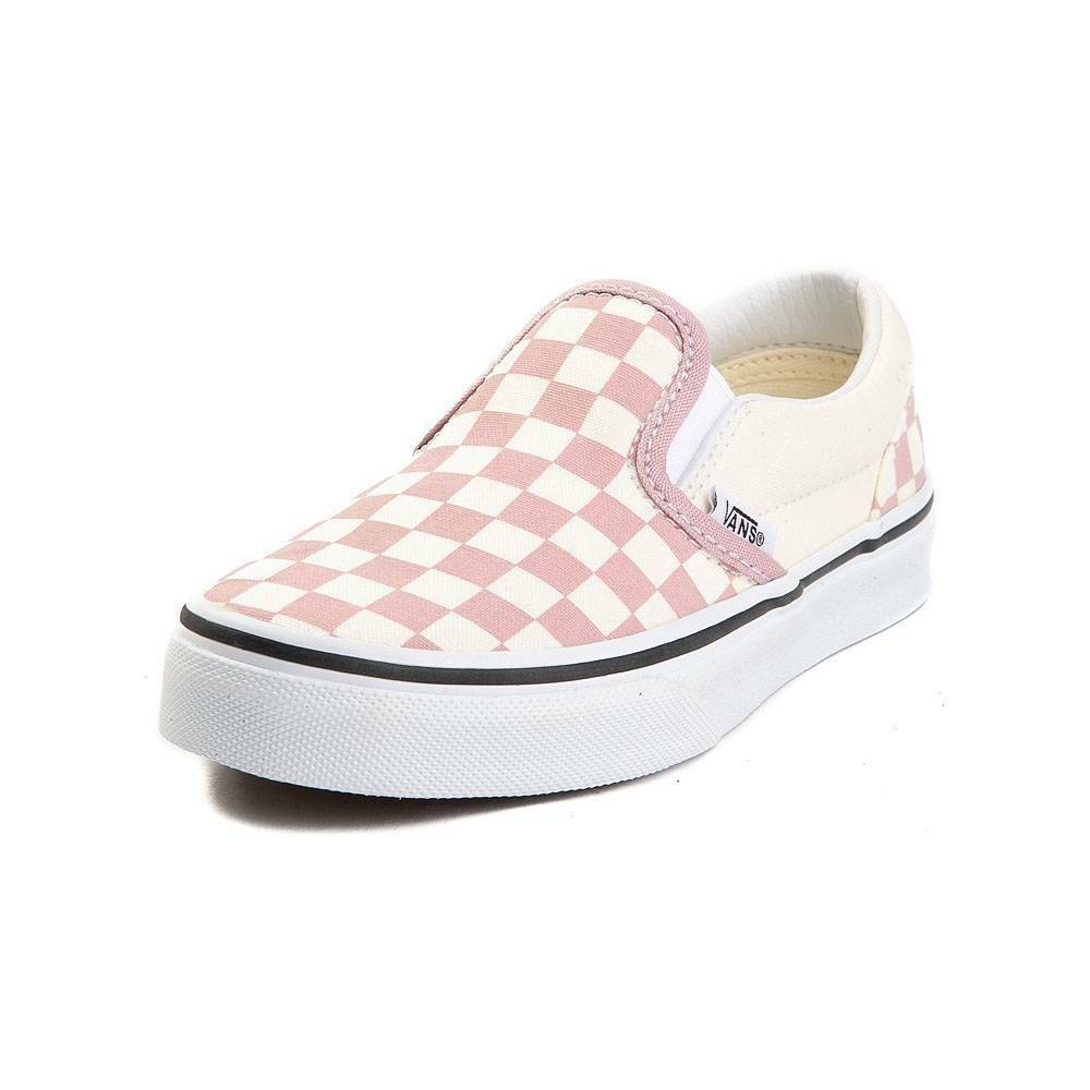 946a705989 Details about NEW Vans Slip On Zephyr Pink White Chex Skate Shoe Checker  Womens Checkerboard