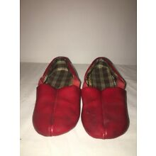 Pair of Vintage Children's Shoes Unbranded, Sz Unknown, Plaid Interior Leather?