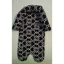 On the Goldbug Infant Head Support, Black  White Print/ Baby Car Seat or Carrier