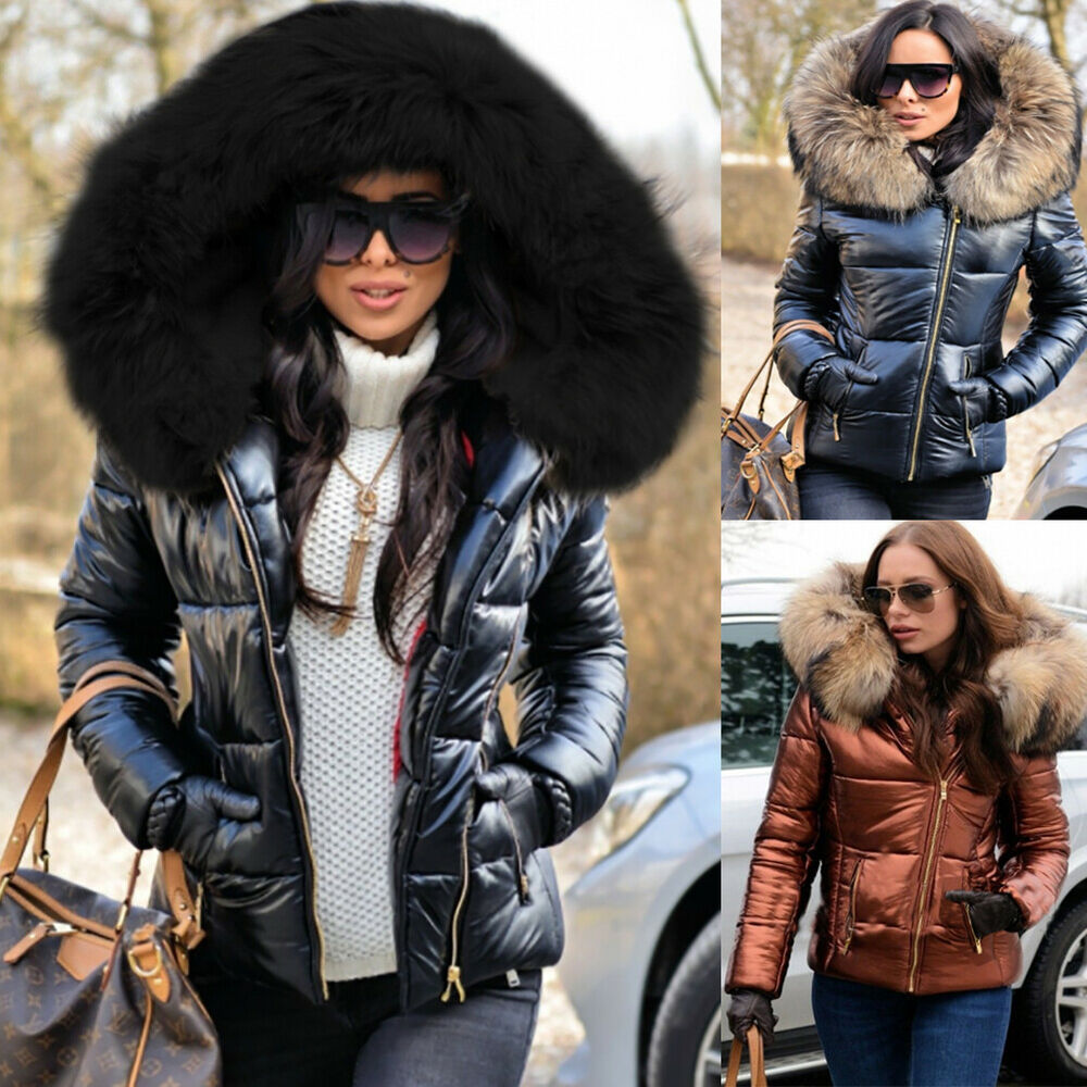 496ca51be2e Roiii Womens Long Down Coats Hooded Parka Puffer Padded Jackets Plus Size  Trench