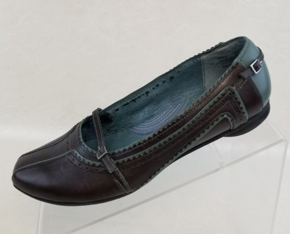 Indigo by Clarks Mary Jane Loafers Flats Womens Brown Teal Leather Shoes Sz  7.5M | eBay