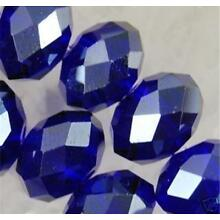 NEW198pc 4X6mm Dark Blue Crystal Faceted Gems Loose Beads 5040