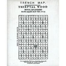 WORLD WAR 1 TRENCH MAP FRENCH SECTOR THIEPVAL WOOD (LOC.31)