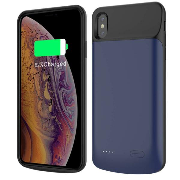 6000mAh Rechargeable External Backup Charger Pack Battery Case for iPhone Xs Max