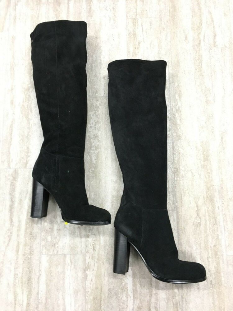 7a0234c6ff2d Details about Sam Edelman Victoria Over The Knee Black Suede Boots Size  11