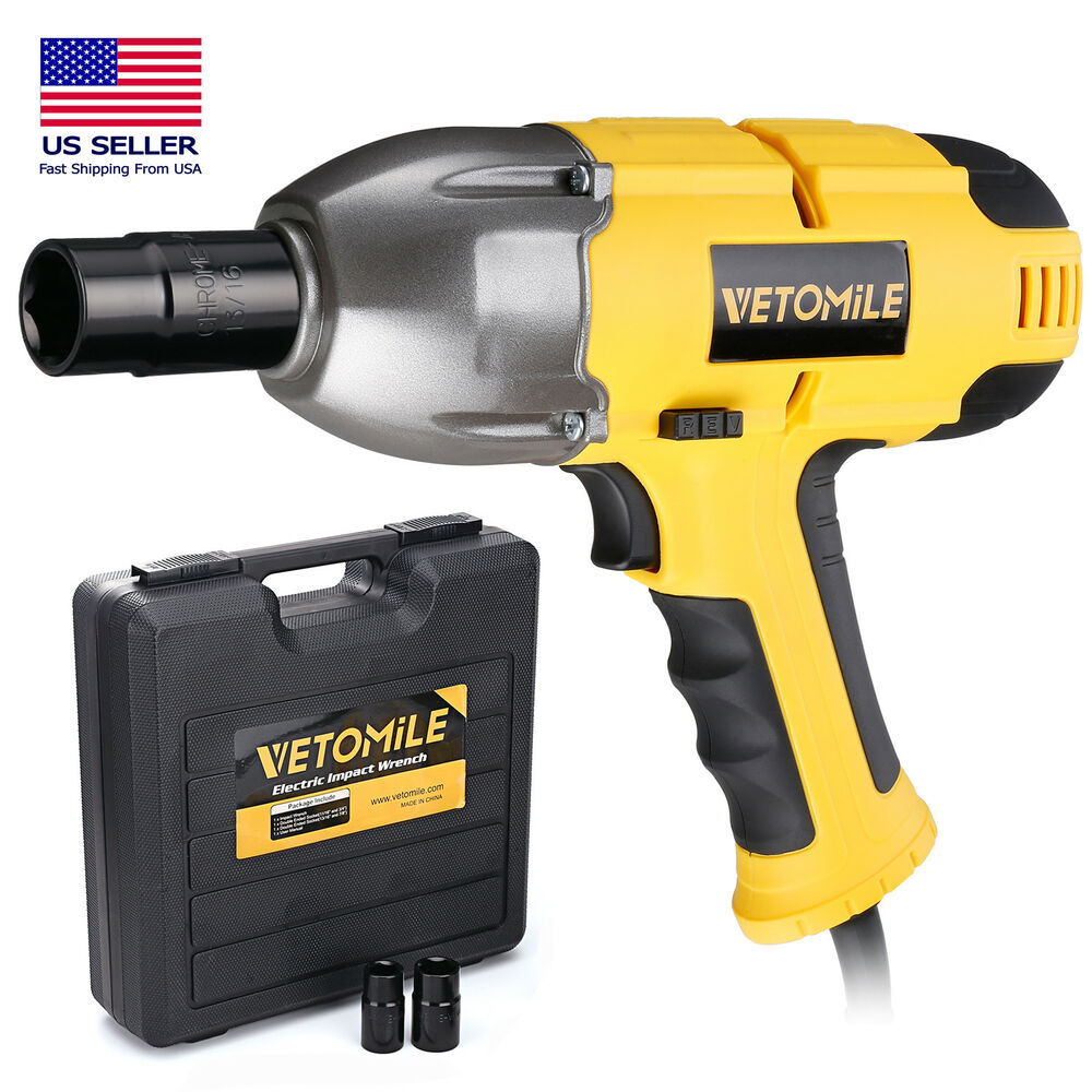 Details About Vetomile 60hz 120v Electric Impact Wrench 1 2 Inch Torque Tool Kit W Sockets