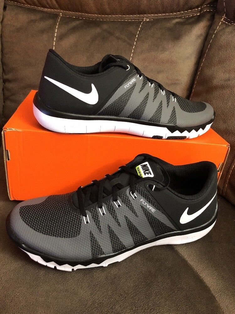a6adb978a7b3 Details about Mens Nike Free Trainer 5.0 V6 Running Shoes Size 15 Black  Grey White 719922 010