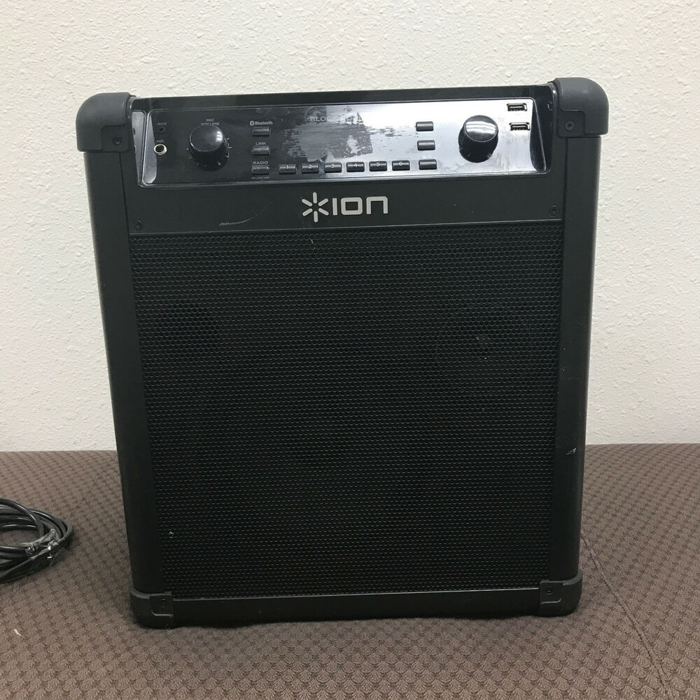 Details About Ion Audio Block Rocker Bluetooth Speaker Radio Ipa76c As Is For Parts Only