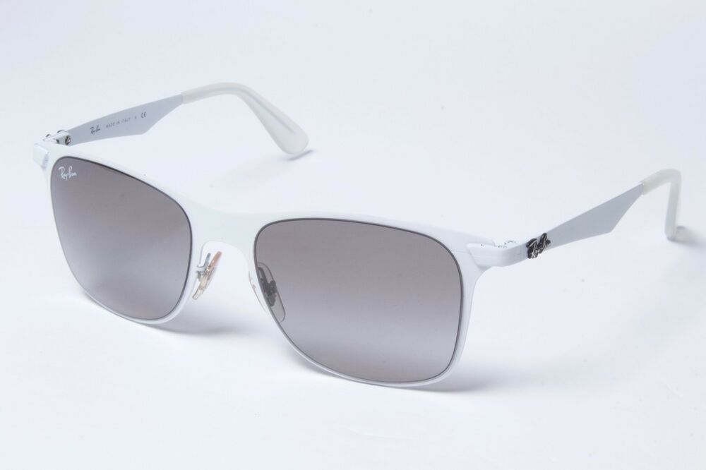 2dd195650c5523 Details about Ray-Ban Wayfarer RB3521 163 11 White Grey Gradient Sunglasses  52mm Non-Pol