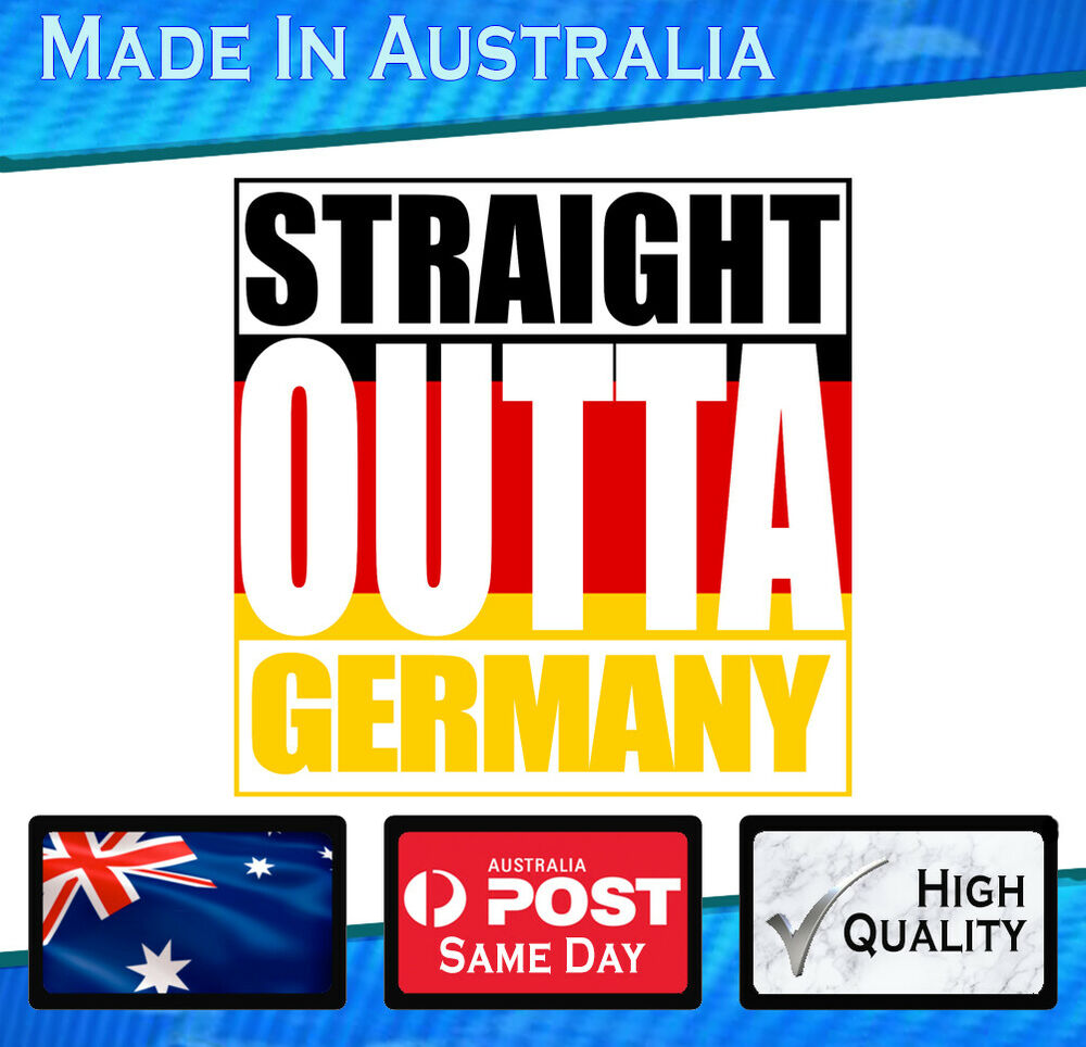 Details about vinyl car sticker straight outta germany flag vw audi bmw mercedes decal