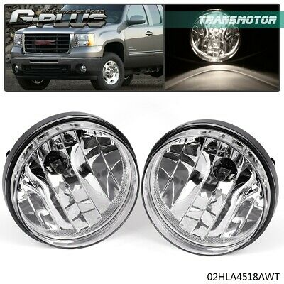 For 07-13 GMC Sierra 1500 2500 Clear Front Bumper Fog Lights Lamps Left&Right
